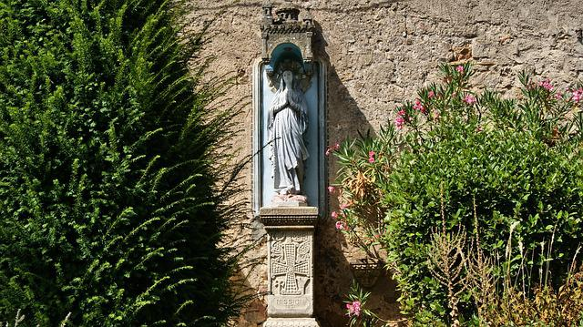 Statue, Mary, Religion, Prayer, Rennes-le-chateau