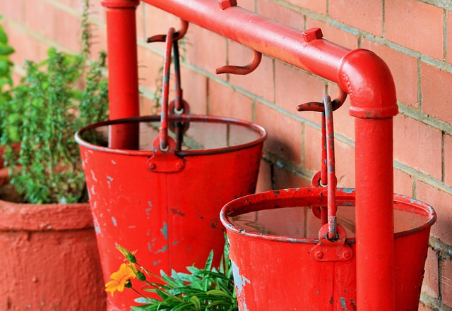 Bucket, Water, Fire, Extinguish, Precaution, Liquid