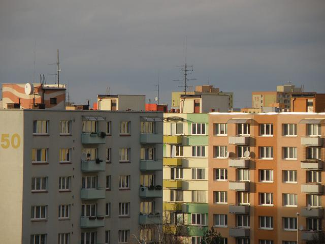 Prefabricated House, Housing Estate, Prefab