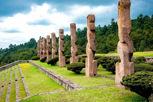 Architecture, Mexico, Temoaya, Prehispanic, Landscape