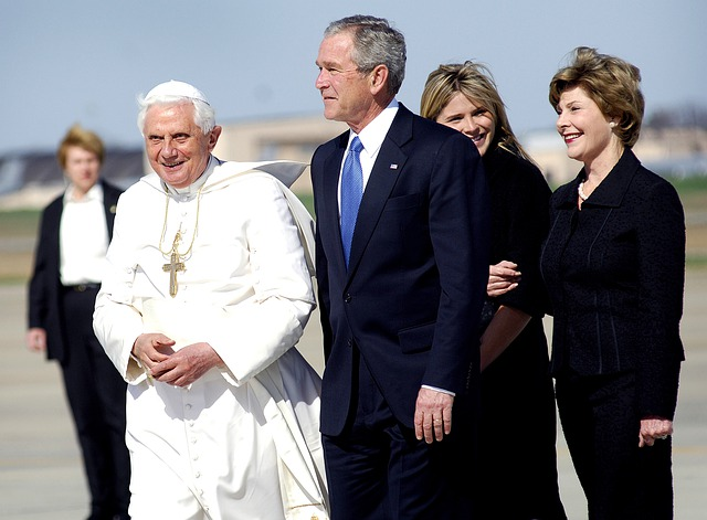 Pope Benedict Xvi, President George Bush, Laura Bush
