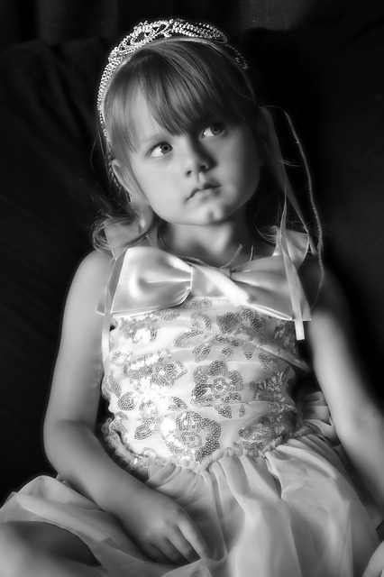 Princess, Girl, Blue Eyes, Child, Thinking, Pretty