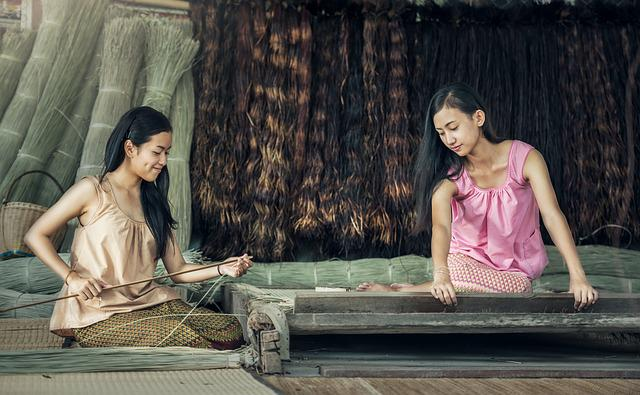 Lady, Working Hand, Asia, Pretty, Myanmar Burma