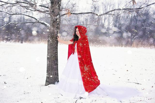 Woman, Pretty, Happy, Girl, Winter, Snow, White, Cold