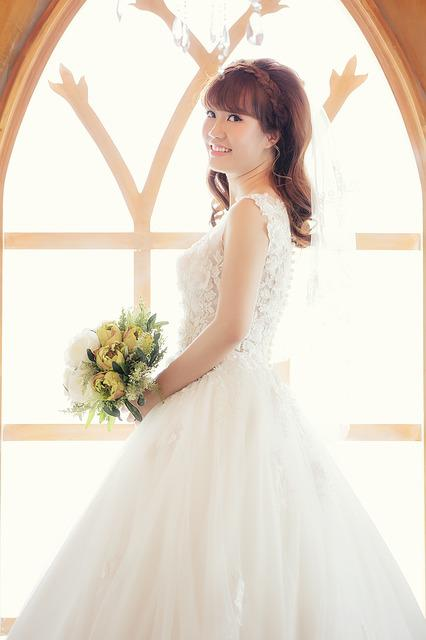 Bride, Pretty, Wedding, White, Dress