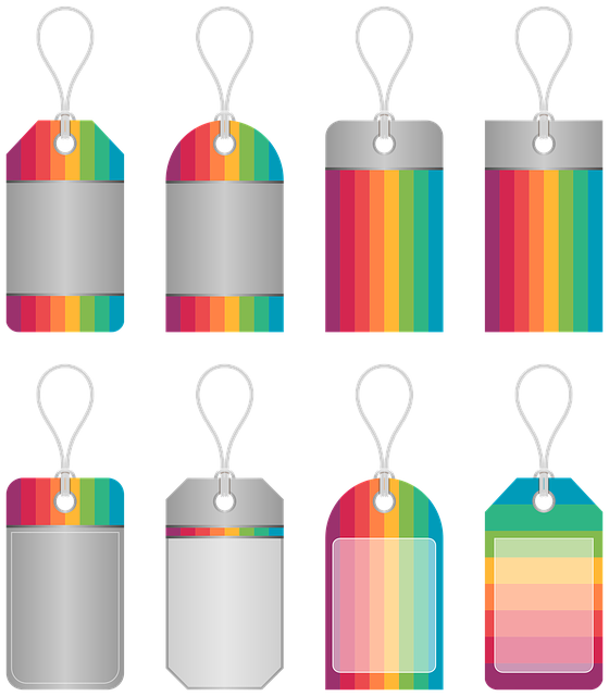 Price Tags, Ribbon, Colorful, Rainbow, Design