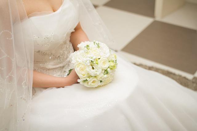 Marriage, Wedding, Bouquet, Priest