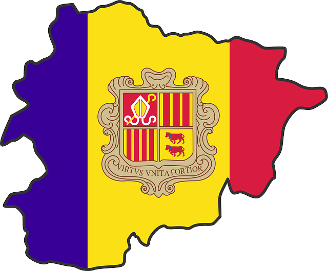 Flag Map, Map, Flag, Coat, Arms, Andorra, Principality