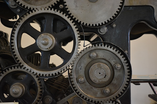 Technology, Printing, Offset, Role Pressure, Gears