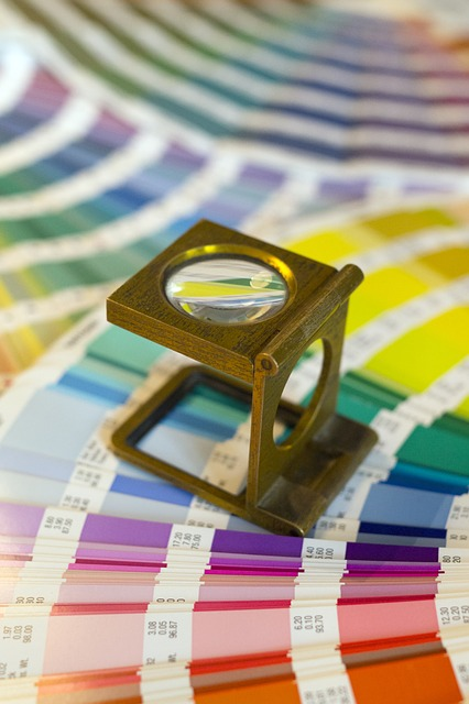 Swatches, Magnifying Glass, Printer, Printing House