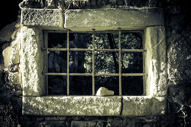 Prison, Prison Window, Window, Ruin, Wall, Broken