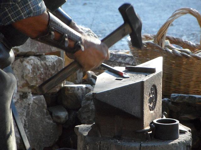 Blacksmith, Anvil, Hammer, Craft, Craftsmen, Profession