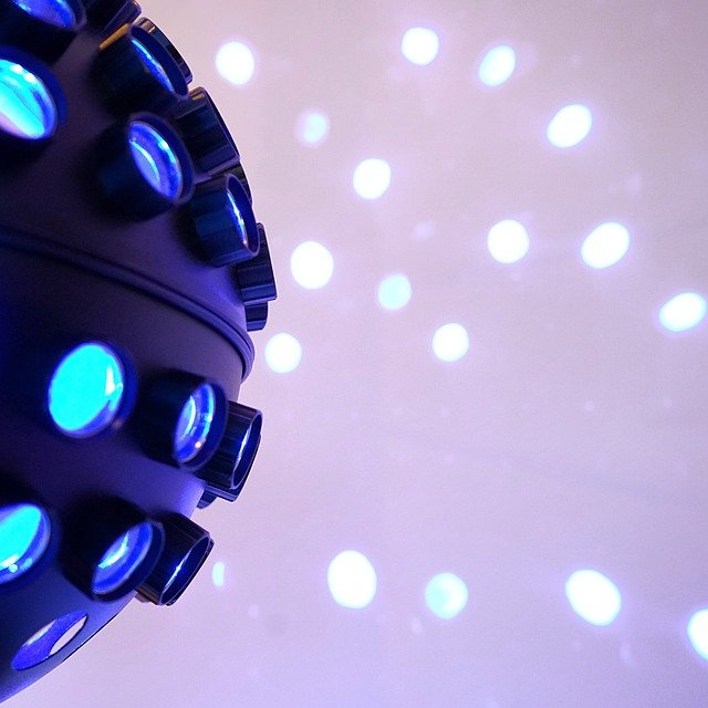 Lighting, Dj, Disco, Spots, Led, Blue, Projection