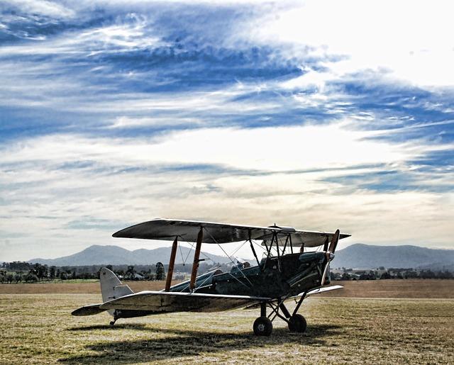 Plane, Propeller, Airplane, Airfield