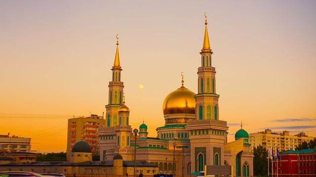 Moscow Cathedral Mosque, Prospekt Mira, Ramadan, Sky