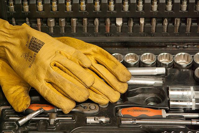 Gloves, Tools, Protection, Diy, Suitcase