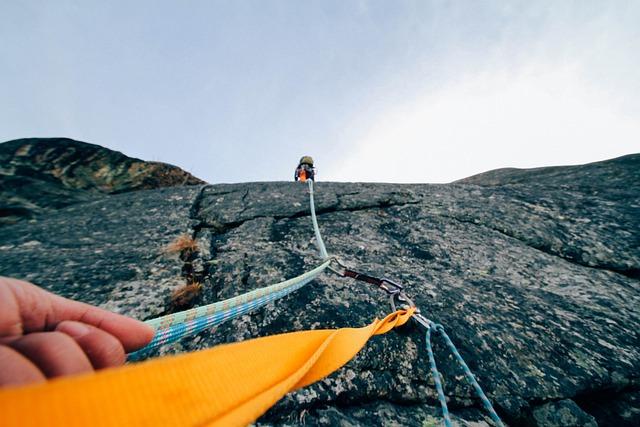 Rock Climbing, Protection, Climber, Mountains, Nature