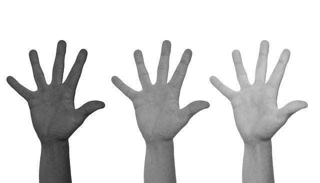 Racism, Hands, Black, White, Discrimination, Protest