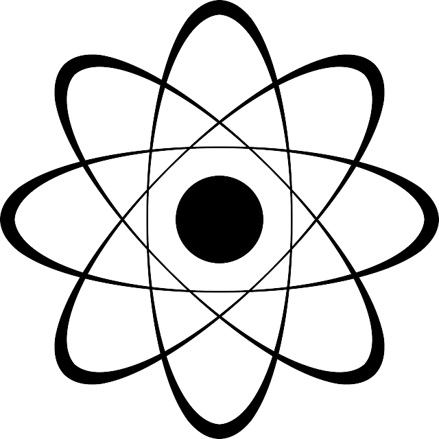 Nucleus, Physics, Atom, Protons, Electrons, Stylized