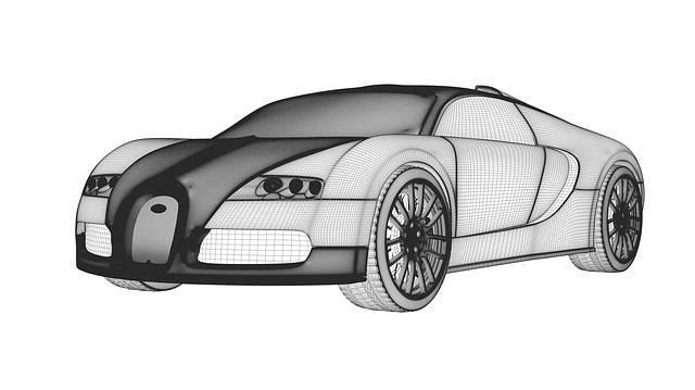 Bugatti, Veyron, Auto, Prototype, Automobile, Wireframe