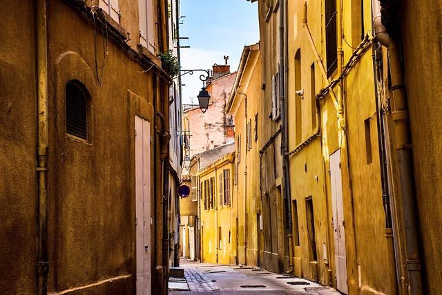 City, Street, Empty, Quiet, Provence, France, Europe