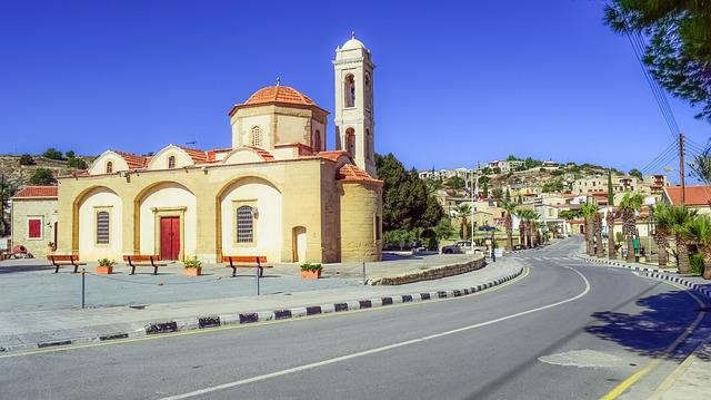 Cyprus, Psematismenos, Village, Church, Architecture