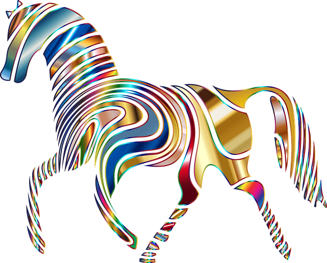 Horse, Equine, Psychedelic, Abstract, Animal, Art