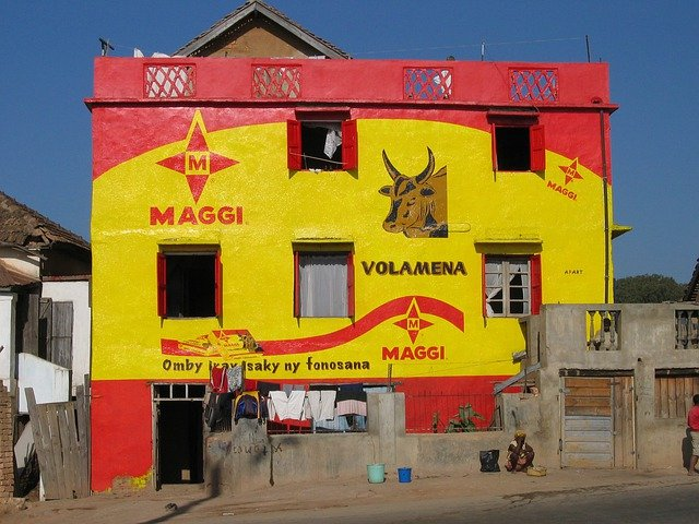 House Painted, Advertising Fresco, Wall, Pub