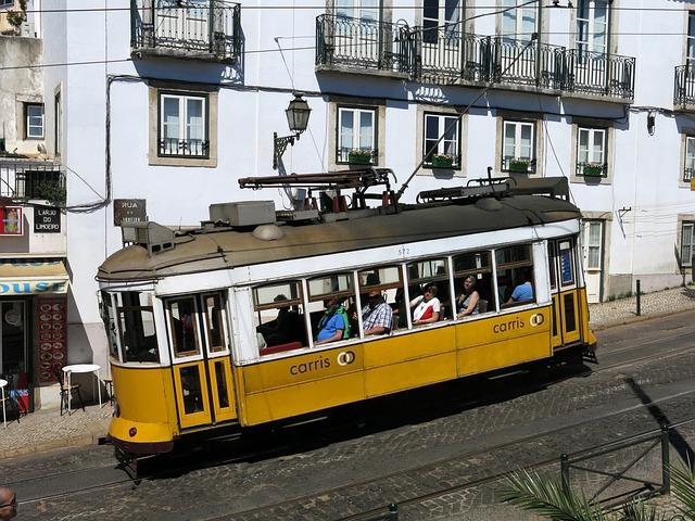 Lisbon, Old Town, Tram, Transport, Public Transport