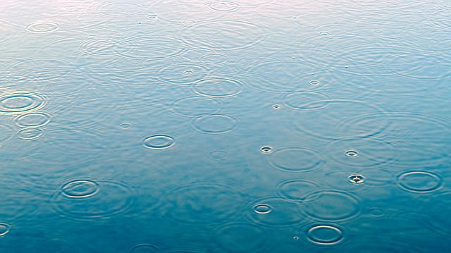 Raindrop, Puddle, Blue, Rain, Water, Reflection