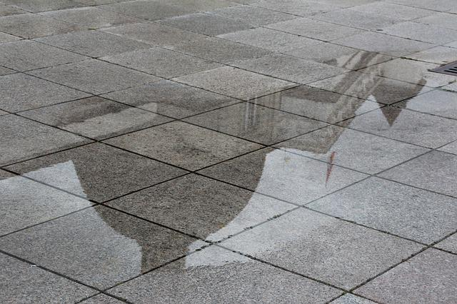 Mirroring, Puddle, Rain Mirror, Lithuania, Vilnius