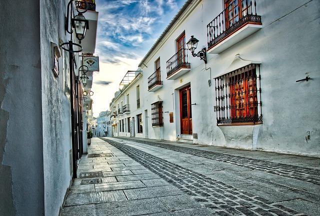 Mijas, Andalusia, Street, Spain, White, Pueblo