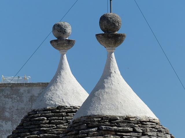 Trulli, Alberobello, Puglia, Homes, Roofs, Rotunda