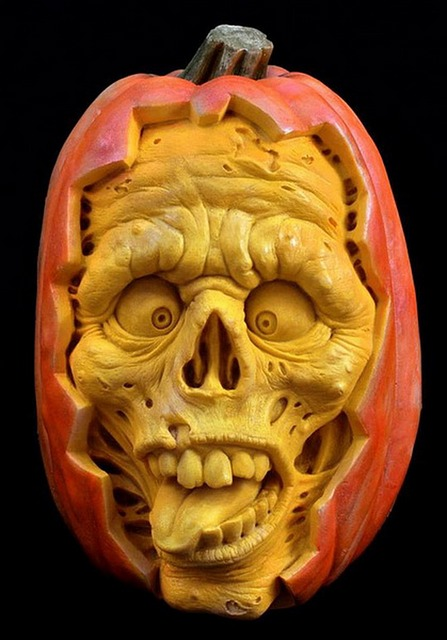 Sculpted, Pumpkin, Halloween