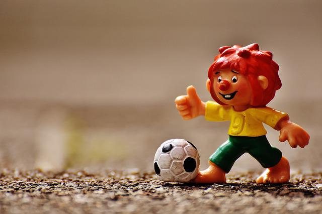 Pumuckl, Fig, Football, Funny, Colorful, Children, Toys