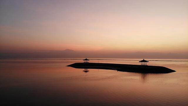 Sunrise, Bali, Beach, Pura, Hindu, Indonesia, Sky