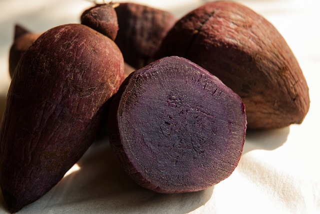 Yams, Purple, Root, Food, Fresh, Boiled, Natural