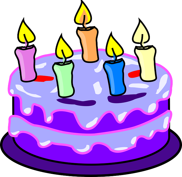 Cake, Candles, Birthday, Purple, Icing, Five, Happy