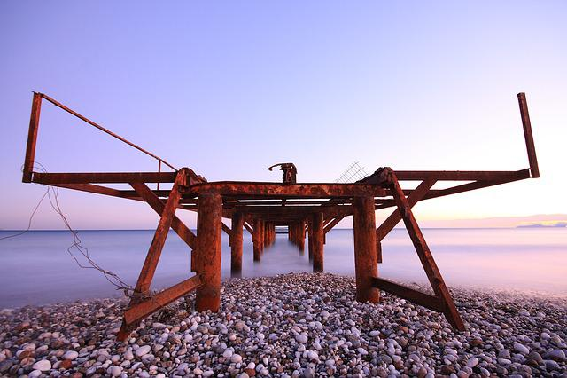 Iskele, Purple, Nature, Marine, Beach, Long Exposure