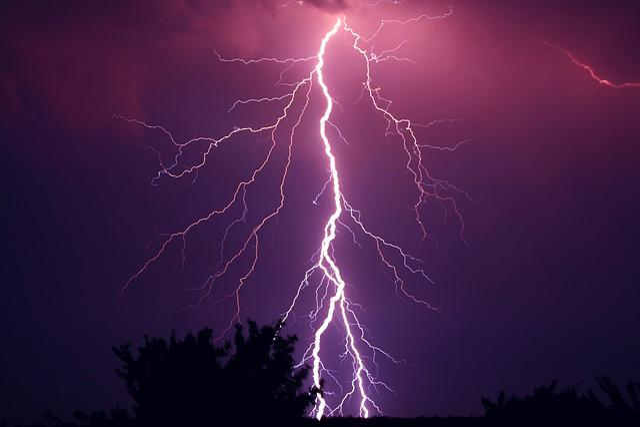 Thunder, Thunderstorm, Violet, Purple, Storm, Weather
