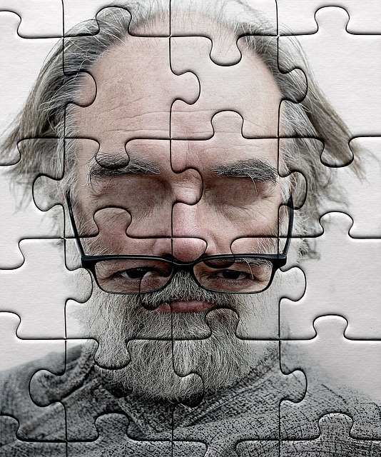 Puzzle, Jigsaw Puzzle, Old Man, Glasses, Metaphor