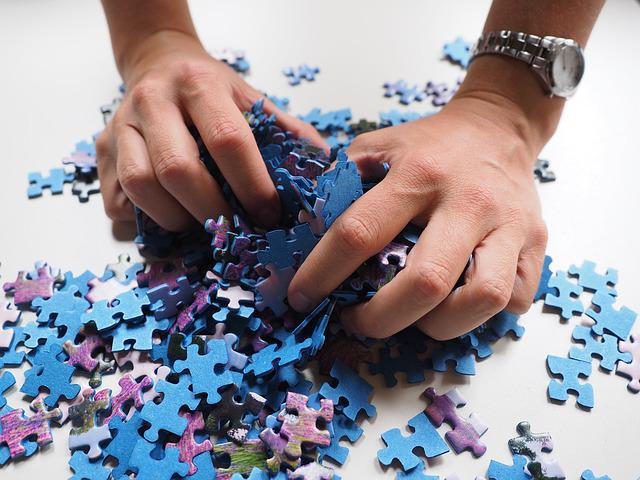 Pieces Of The Puzzle, Mix, Hands, Puzzle, Play