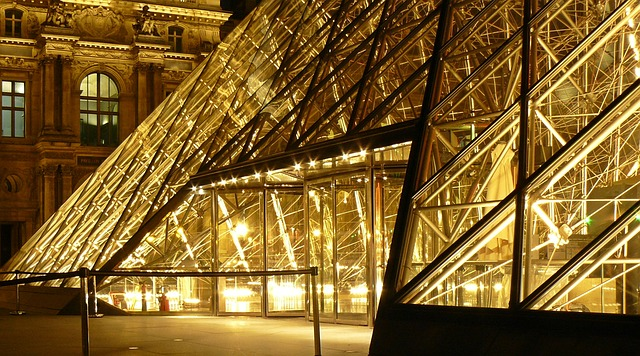 Paris, Louvre, France, Museum, Glass Pyramid, Pyramid