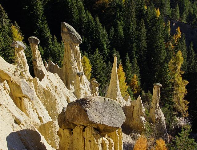 Pyramids, Earth, Stones, Plata, Pusteria, South Tyrol