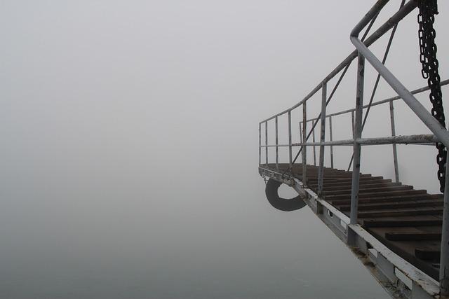 Qingdao, Fog, Port