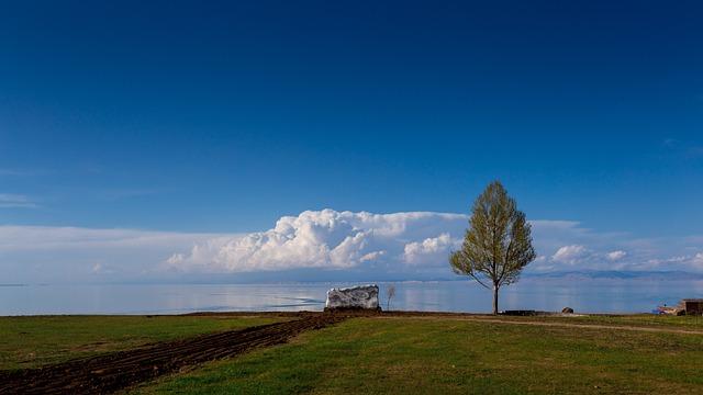 Qinghai Lake, Xining, Blue Sky