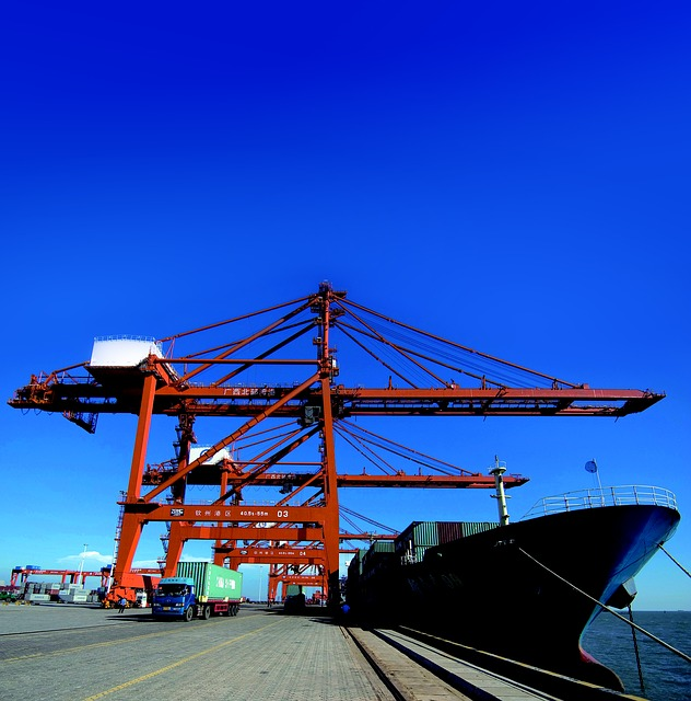 Port, Guangxi, Qinzhou, Cargo Ships, Sea