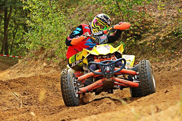 Quad, Motocross, Enduro, Cross, Curve, Atv