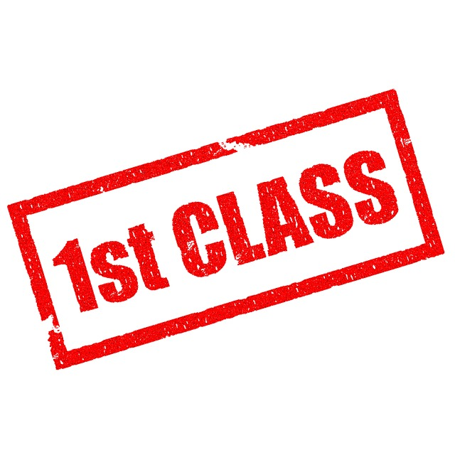 First Class, Best, Achieve, Quality, Rubber, Stamped