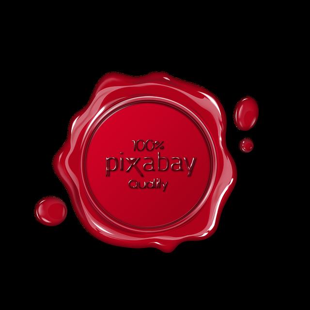 Pixabay, Seal, Wax, Logo, 100, Quality